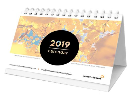 Lessons Learnt Consulting Calendar 2019