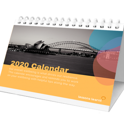 2020 Resilience Calendar, Lessons Learnt Consulting