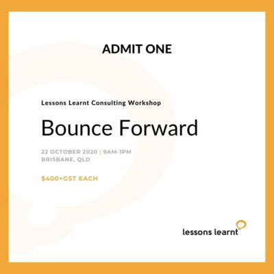 Bounce Forward Workshop Lessons Learnt Consulting